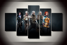 5 Pieces Witcher Wild Hunt Game Modern Home Wall Decor Painting Canvas Art HD Print Painting Canvas Wall Picture For Home Decor short long brake clutch levers for honda vt1100c vt1300cx vt1300ct vt750c2b vtx1300 motorcycle adjustable cnc aluminum