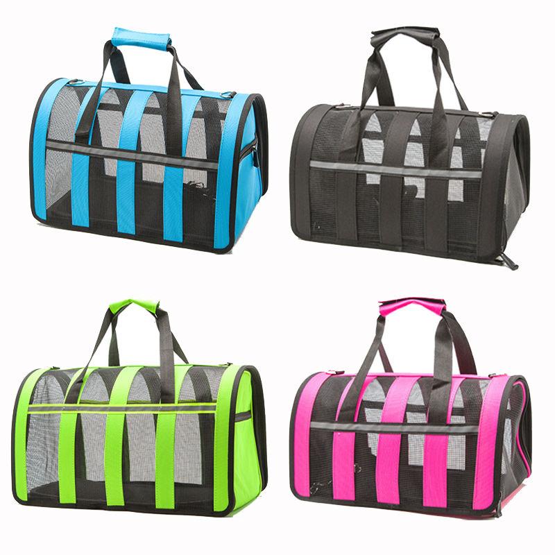 Techome Convenient Portable Outside Dog Carrier Travel Bag Pet Carrier Portable Pet Carrier Purse Breathable Puppy Dog Handbag