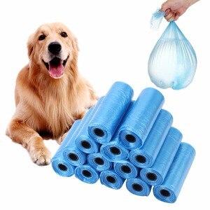 Image 4 - 20 40 לחמניות/חבילה 600pcs כלב קקי שקית אשפה שקיות אשפה עבור חתול חיות מחמד פסולת אוסף תיק חיצוני ניקוי קקי שקיות ספקי
