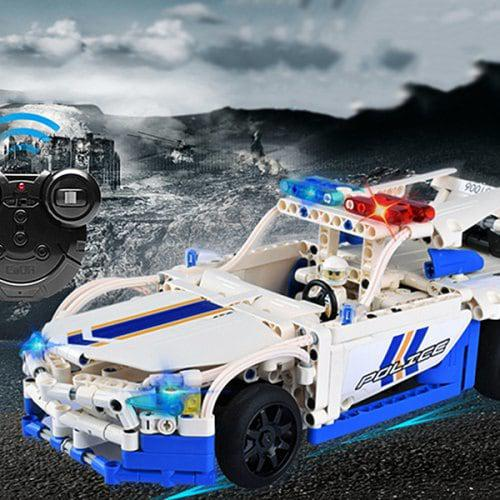 LeadingStar City Police Vehicles Series Assembled Building Blocks Remote Control Police RC Car Model Drop Shipping