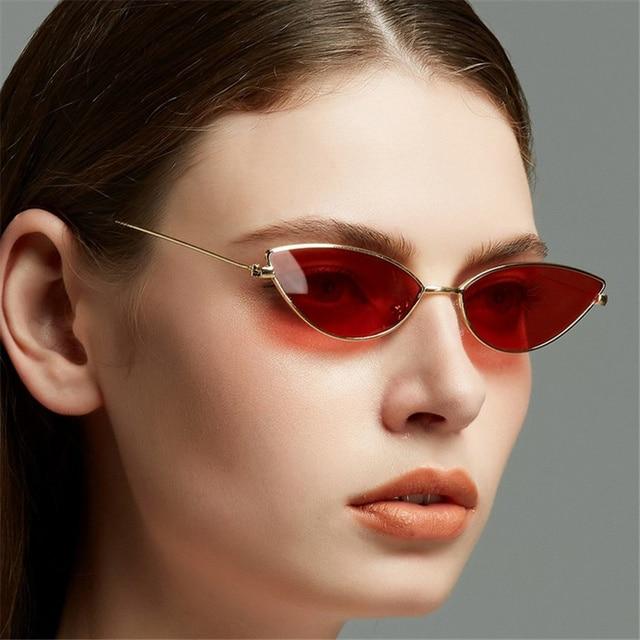 585c1d6e4 XojoX Pequeno Gato Olho Óculos De Sol Mulheres Sexy Marca de Moda Designer  de Homens Retro