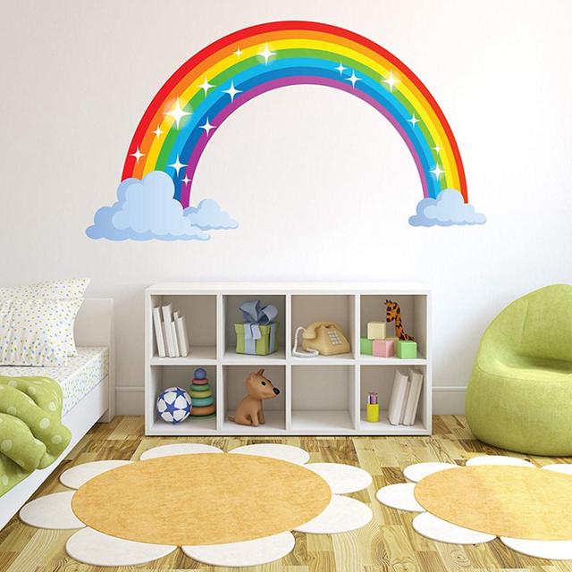 Glitter Rainbow Wall Decal