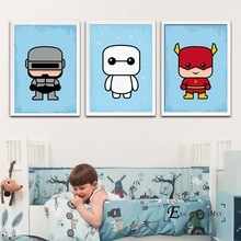 Cartoon Super Hero Kids Nursery Poster And Print Canvas Art Painting Wall Pictures For Room Decoration Home Decor No Frame