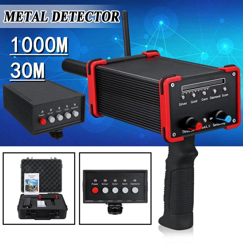 Détecteur de métaux de profondeur 30 M détecteur de Laser numérique en métal doré à longue portée