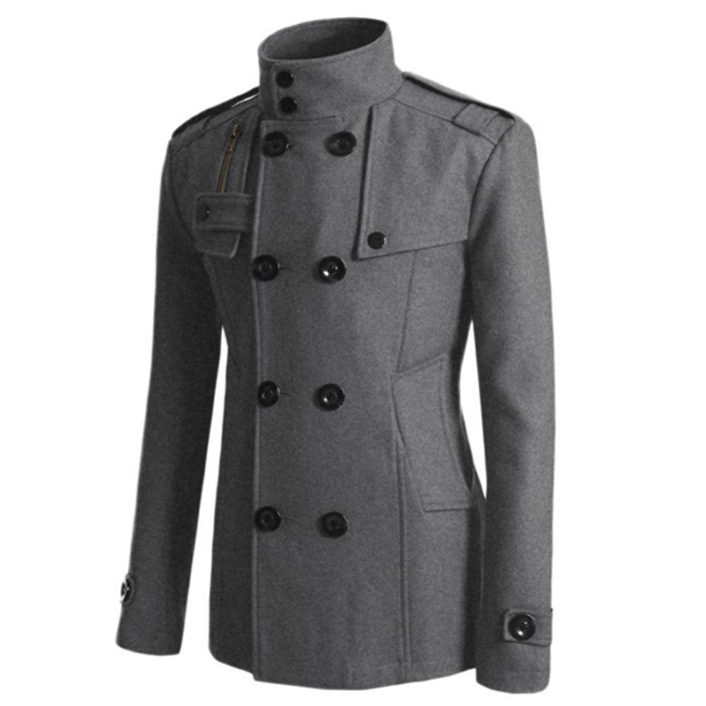 Jackets & Coats Brave 2018 New Mens Woolen Coats With Stand Collar Men Autumn Winter Mens Thicken Wool Windbreakers M-3xl Top Designer Overcoats Man
