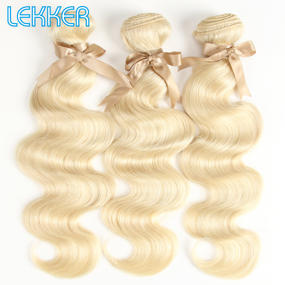 Lekker Malaysian Body Wave Hair 613 Honey Blonde Bundles 1/2/3/4 Bundles Bodywave Remy Hair Weaving Human Hair Bundles 10-26Inch