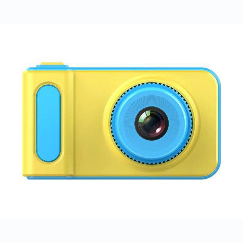 Children's Camera Mini Electronic Toys Small SLR Sports Camera Toy Cartoon Game Photo Birthday Gift Pink Blue Non-touch Screen