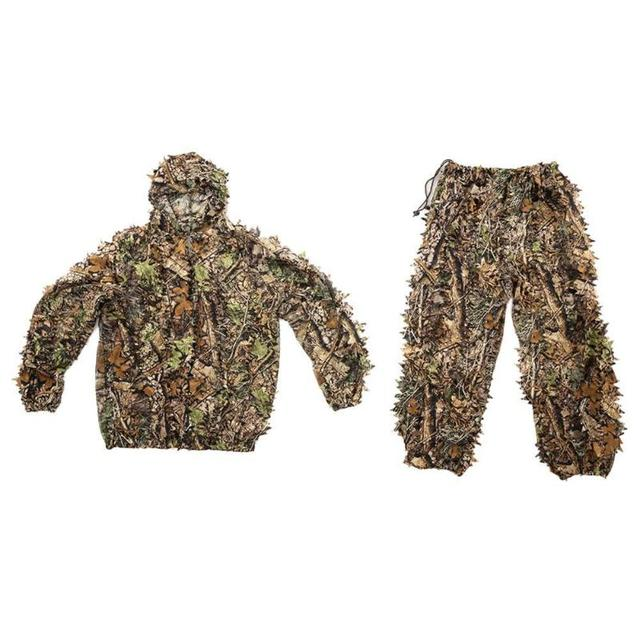 5f55d007dba7c Hunting clothes New 3D maple leaf Bionic Ghillie Suits Yowie sniper  birdwatch airsoft Camouflage Clothing jacket and pants