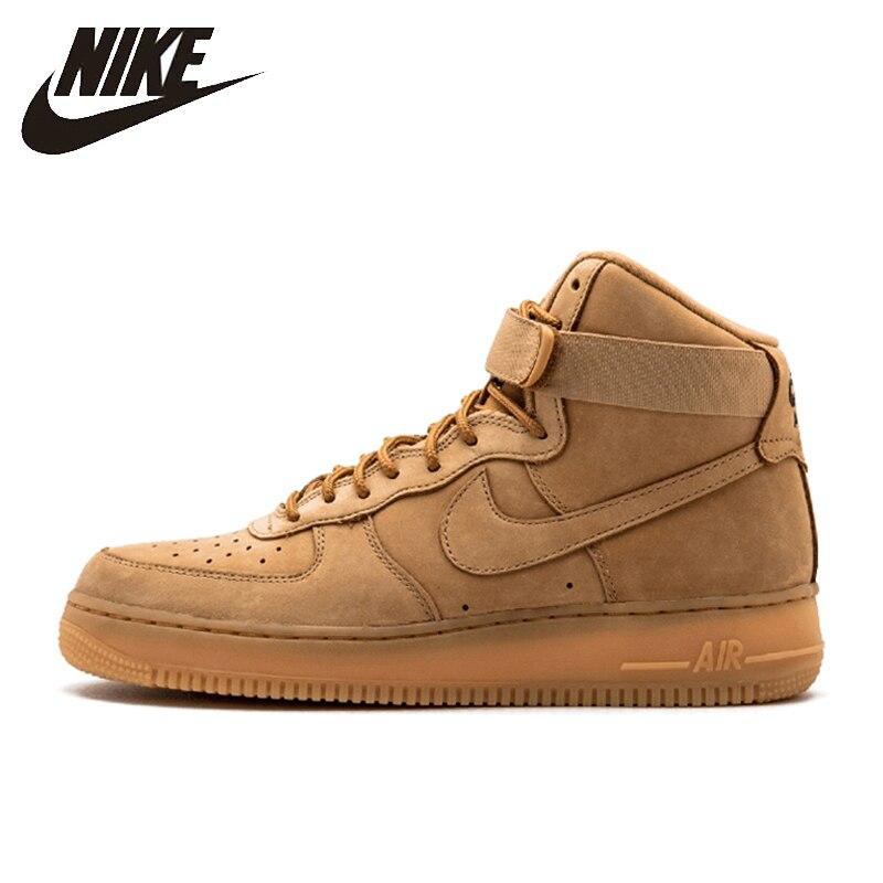 50b7405a Nike Air Force 1 Новое поступление Аутентичные Мужчины Скейтбординг обувь  удобные дышащие кроссовки #882096-200