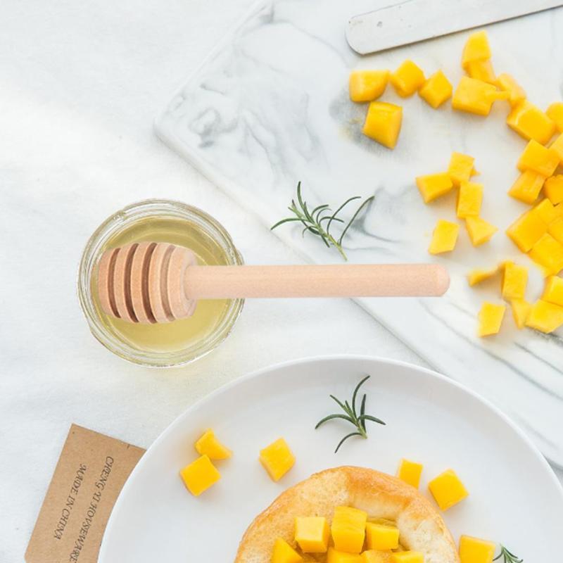 24 Stks Houten Honing Lepel Koffie Roer Bar Mengen Honing Stick Keuken Gereedschap Honing Dipper Feestartikelen