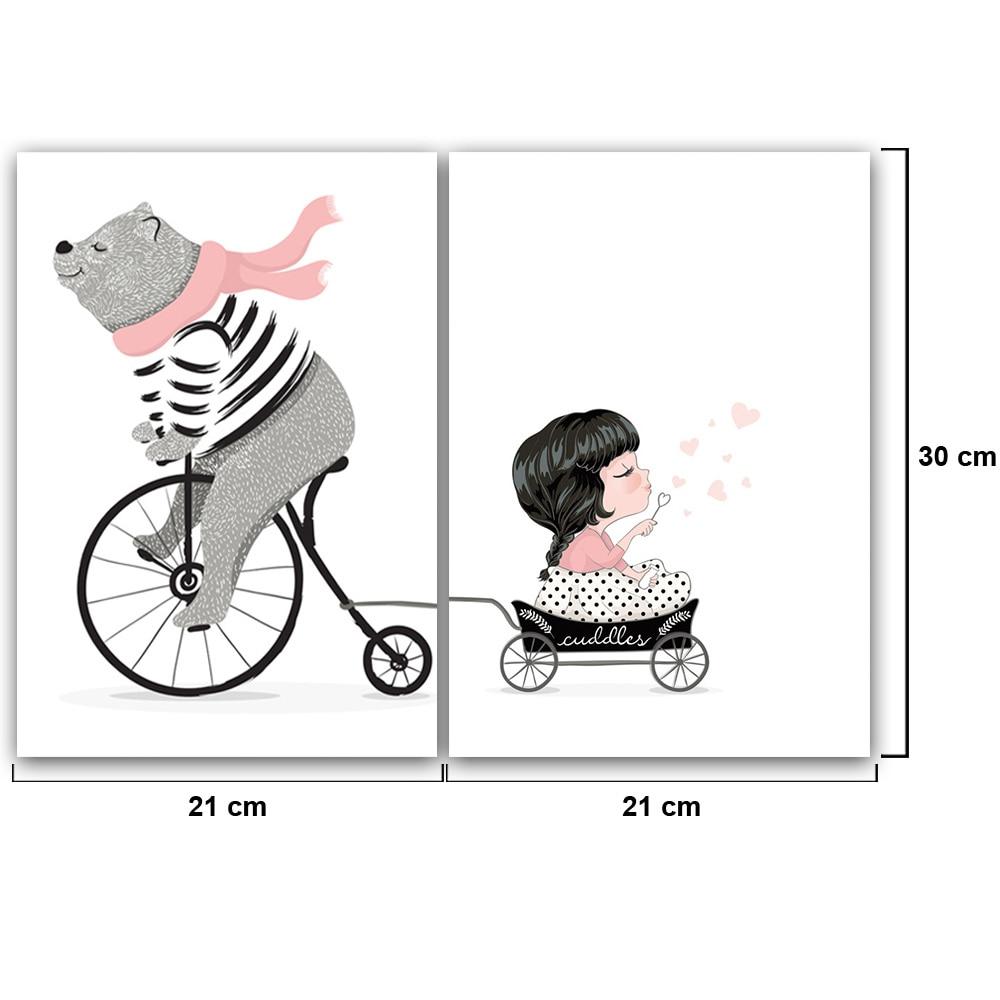 US $2 44 OFF Kartun Beruang Naik Sepeda Lukisan Cat Minyak Lukisan Oleh Nomor Digital Mewarnai Gambar Dengan Tangan Hadiah Yang Unik Untuk Anak