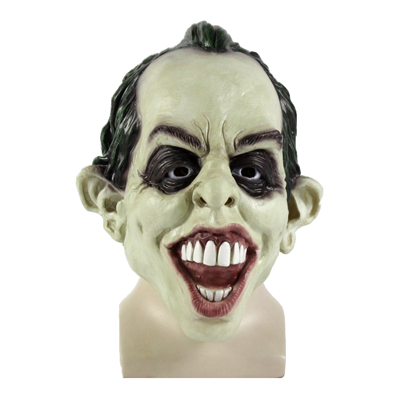 Latex Full Face Mask Scary Halloween Clown Mask Joker Movie Payday Horror Mask  Party Costume Cosplay