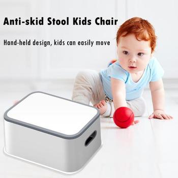 Kids Plastic Multifunction Footstool Baby Toilet Training Anti-skid Anti-Wear Stool Plastic Chair Small Stool 2
