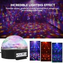 Ceiling Speaker 9 Colors KTV Speakers Dancing Party Disco RGB LED Stage Light Bluetooth Sound Control Ball Light disco Speaker(China)
