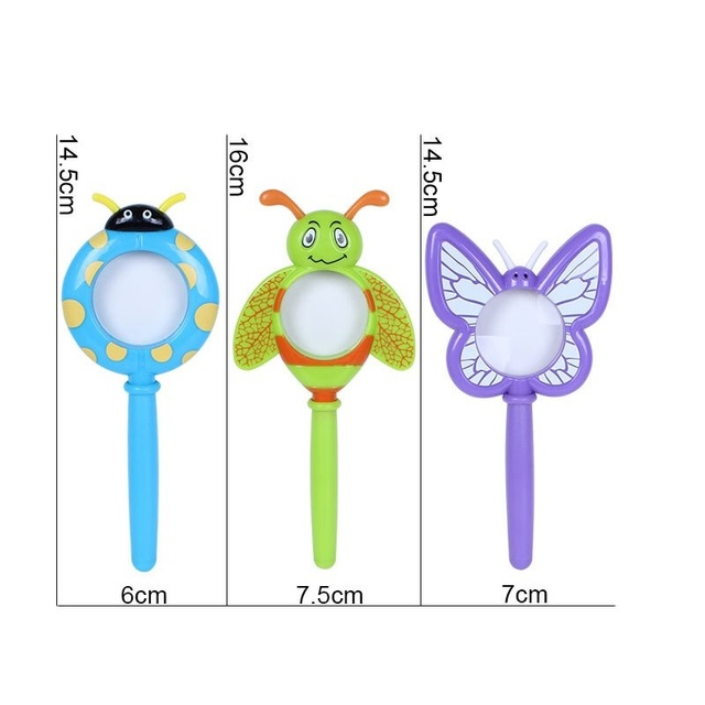 Cartoon-Insect-Shape-Magnifying-Glass-Outdoor-Exploration-Learning-Kids-Children-Educational-Toys-Magnifier-Ladybug-Butterfly