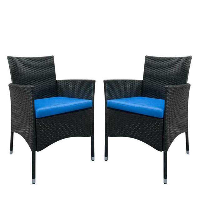 Bajo costo 2 piezas solo respaldo sillas Silla de comedor mimbre ...