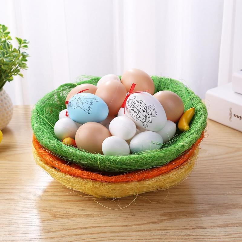 Kids Easter Eggs For For Kids Easter Gift  Basket Kindergarten Party Egg Plate Ornaments Crafts DIY Decorations Easter Craft Toy