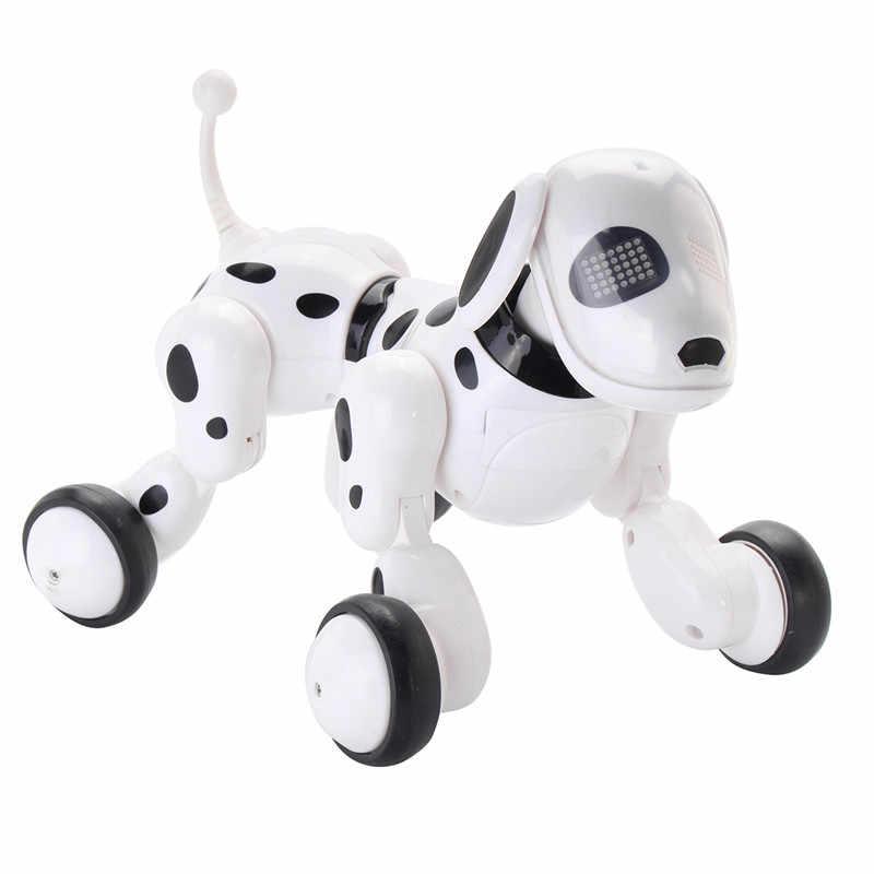 Domibot Sem Fio Controle Remoto RC Robô Inteligente Cão para Crianças Dom Brinquedos Cantar Dança Andando Falando Diálogo Educacional