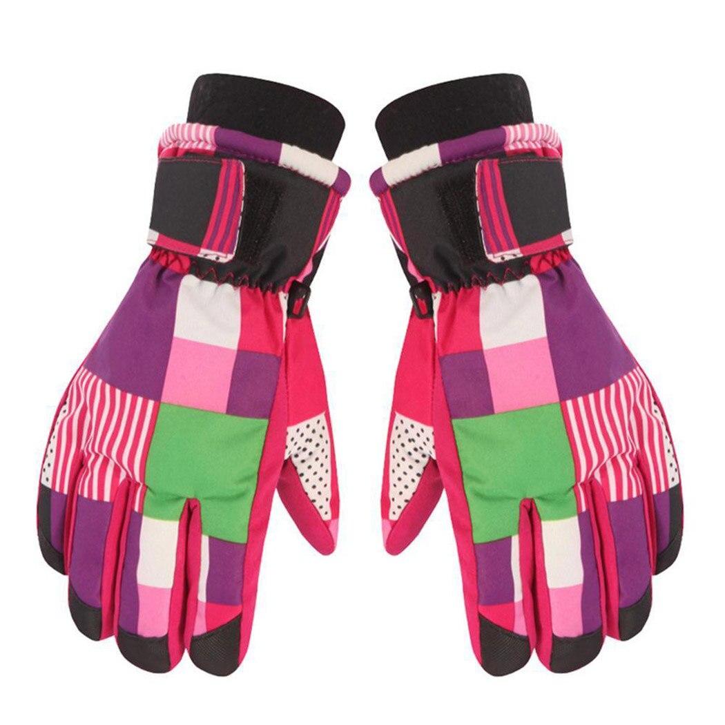Gloves & Mittens Kids Children Waterproof Warm Gloves Boys Girls Baby Outdoor Ski Mittens Winter Camouflage Boys' Baby Clothing