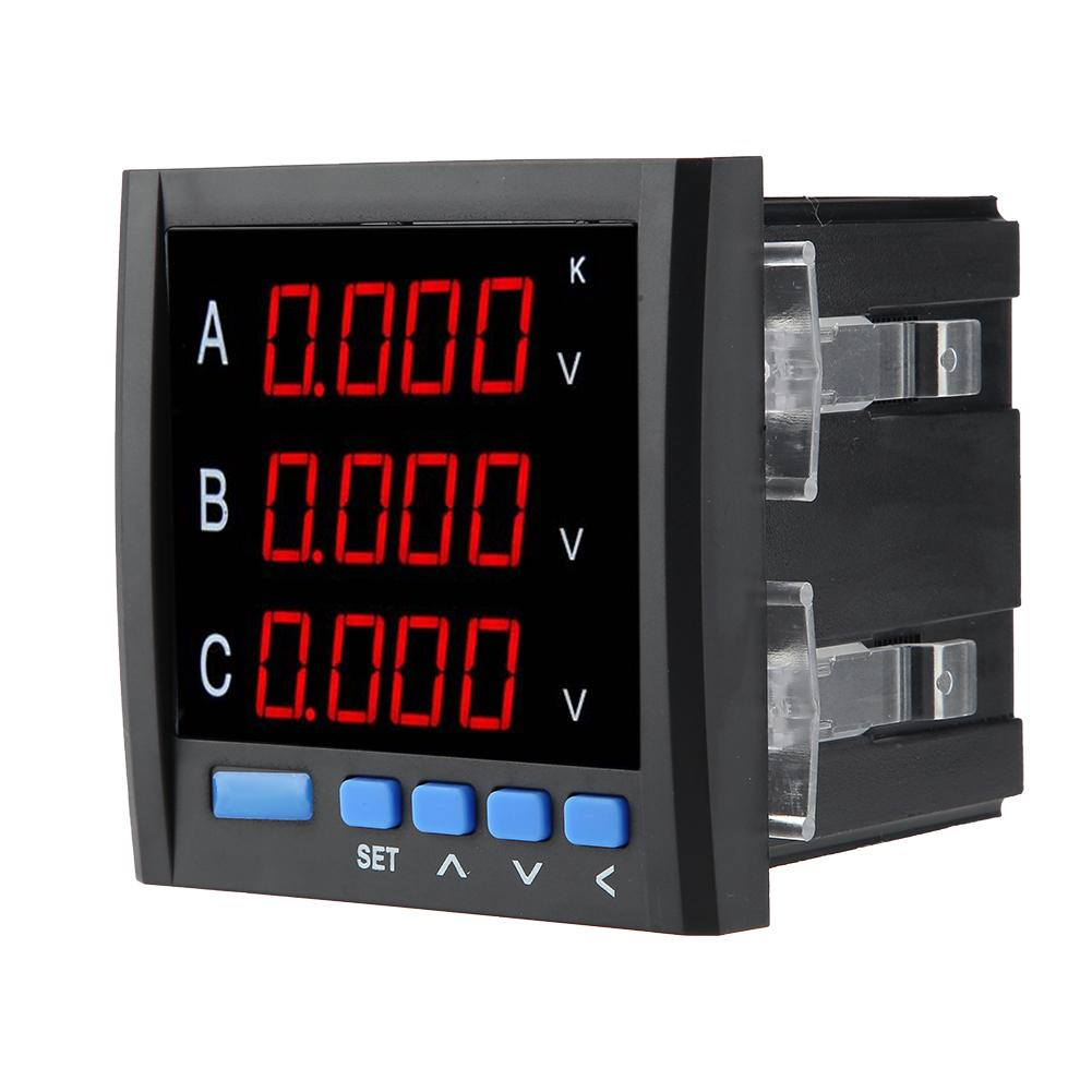 HIgh Quality Three-phase Voltmeter Ammeter Digital Display Current Meter Voltmeter Voltage Meter