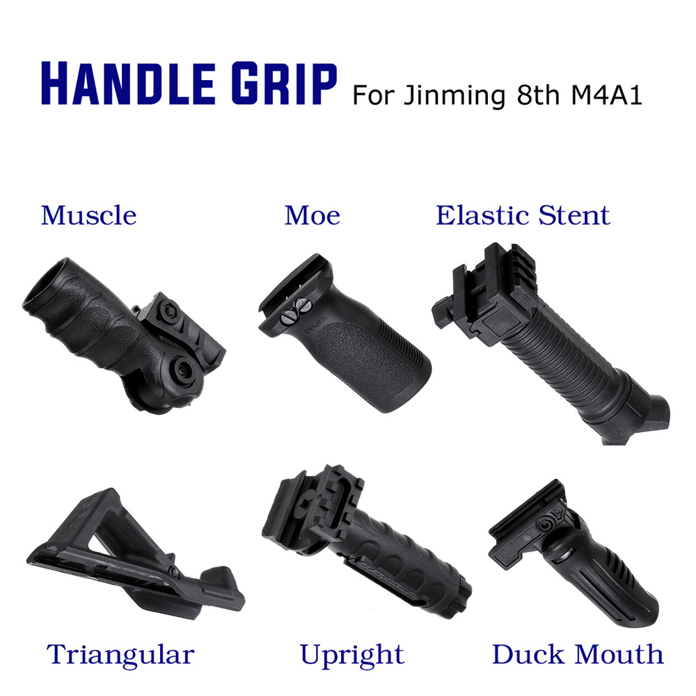 ABS Tactical Foregrip Handle Grip For JinMing 8th M4A1 Gel Ball Game Water For Toy Guns Accessories