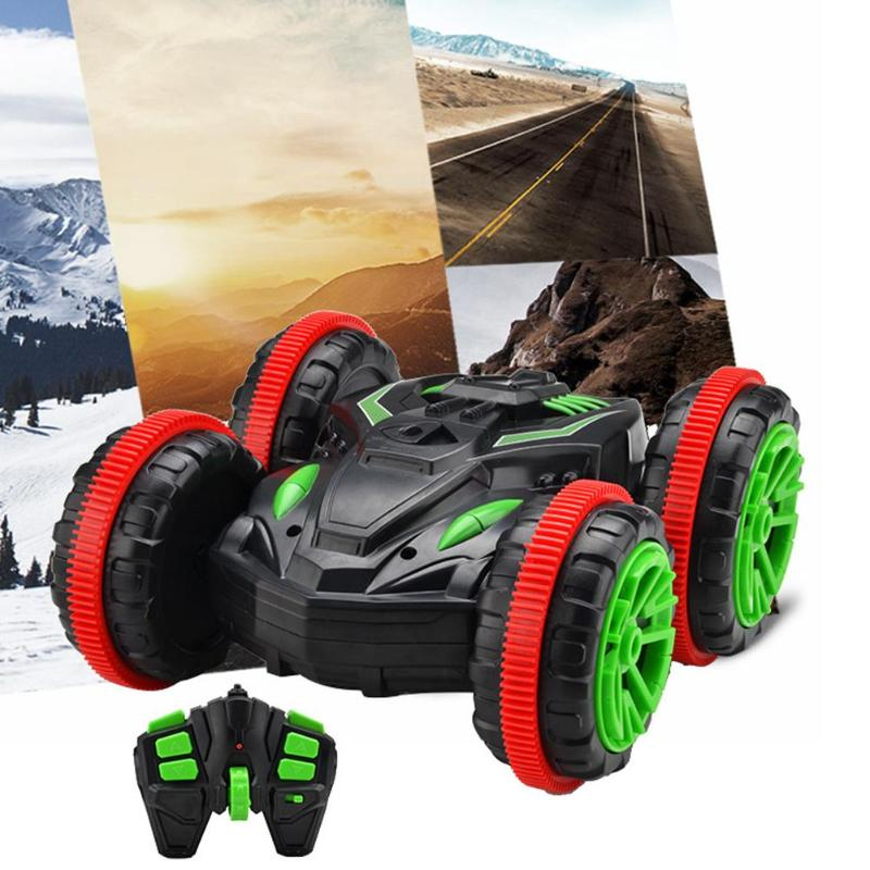 Water And Land Amphibious Electric Toys 360 Rotate Remote Control Car RC Stunt Car Driving On For Children Kids Gift