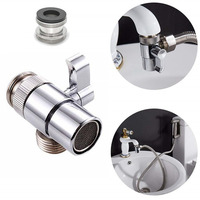 Brass 3-way Diverter  for Kitchen Bidet or Bathroom Basin Faucet Replacement Part Shattaf Accessories T