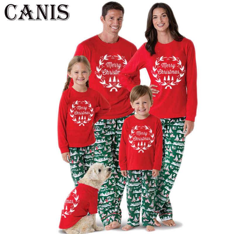 8de82f670f Family Matching Women Kids Christmas Pyjamas Xmas Nightwear Pajamas PJs Set  Clothes