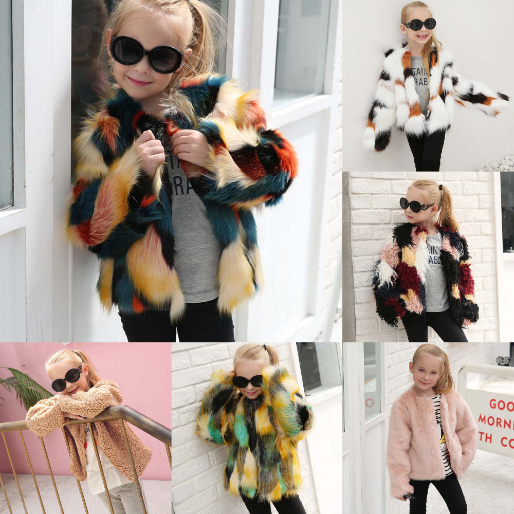 JXYSY Baby girl winter clothes girls jackets and coat Autumn kids fur coat Thick Warm Outwear Clothes jackets for girls kid coat girl