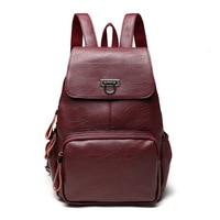 Genuine Leather Teenagers Backpack Small Women Backpacks Girls Femininas Bolsas Travel Bag Leisure Portable Students School Bags