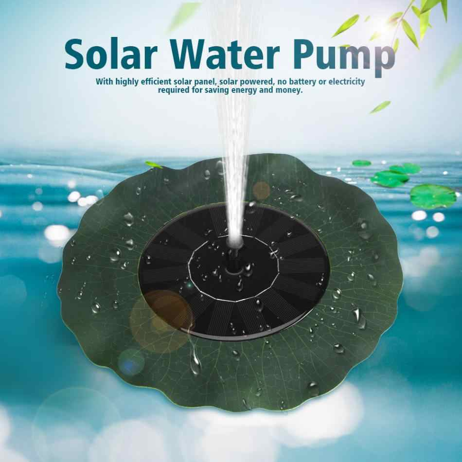 Solar Water Pump Power Panel Kit Fountain Pool Garden Pond Submersible Watering Display 200L/H Solar Power Floating Fountain2019