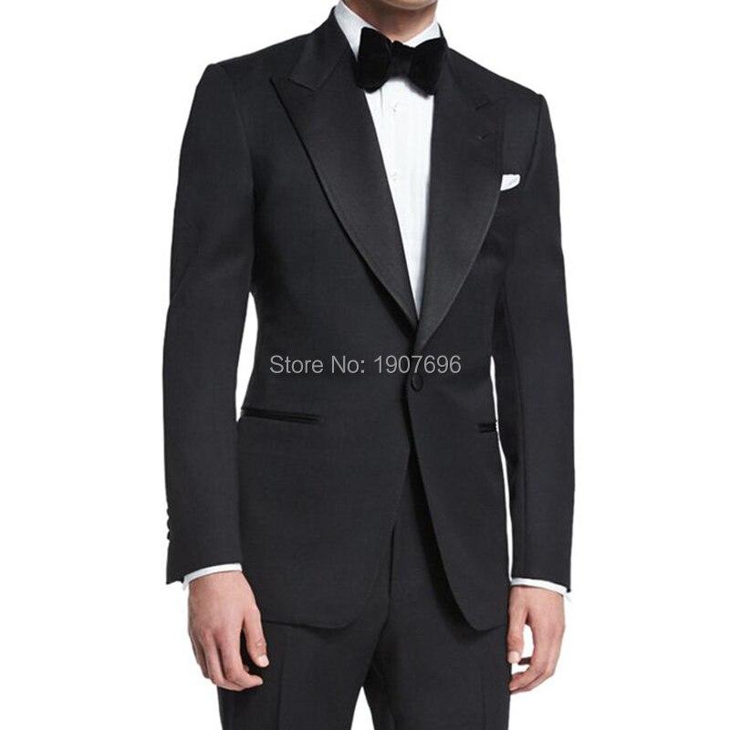 Costumes homme sur mesure pour mariage marié smoxedos 2 pièces costume ensemble veste pantalon personnalisé Gentleman hommes Costumes