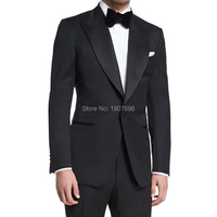 Tailor Made Wedding Groom Tuxedos for Prom Slim Fit Man Suits 2019 Peaked Lapel 2 Piece Jacket Pants Gentleman Men Costumes