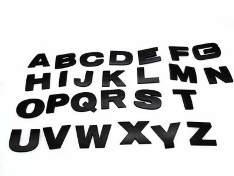 WL New 45 And 25mm 3D DIY Letters Alphabet Emblem Chrome And Black Car Sticker Digital Badge Logo  Accessories Motorcycle 5