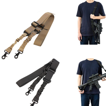 2 точечный боевой регулируемый плечевой ремень со стальным открытым поворотным зажимом двойной триггер пружинный пояс для винтовки ремень