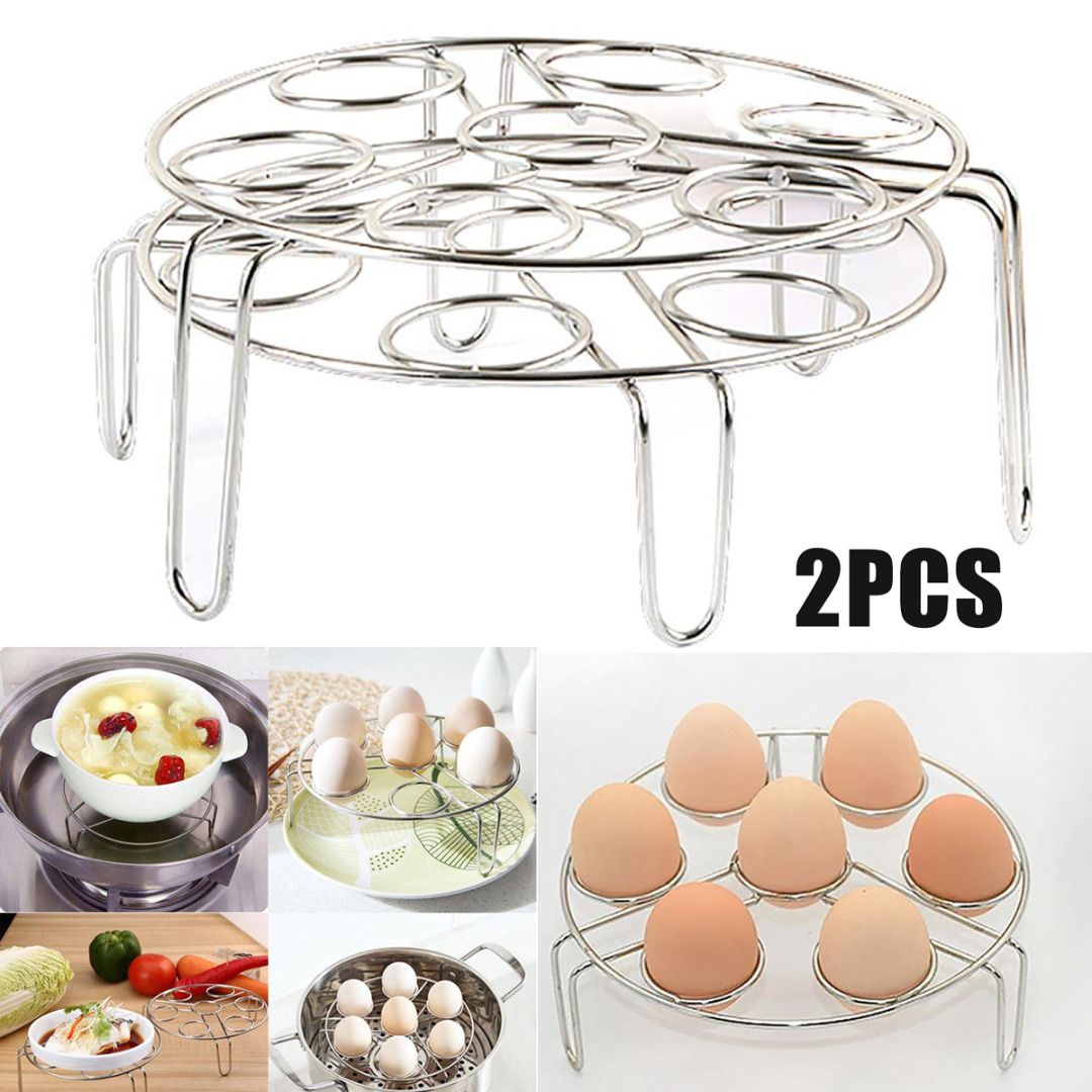 2Pcs Kitchen Steamer Rack Instant Pot Egg Vegetable Cooker Holder Heater