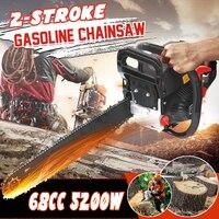 Professional wood cutter 5200W 20 Gasoline Chainsaw Machine 68CC Cutting Wood Mini 2 stroke Gas Chain Saw