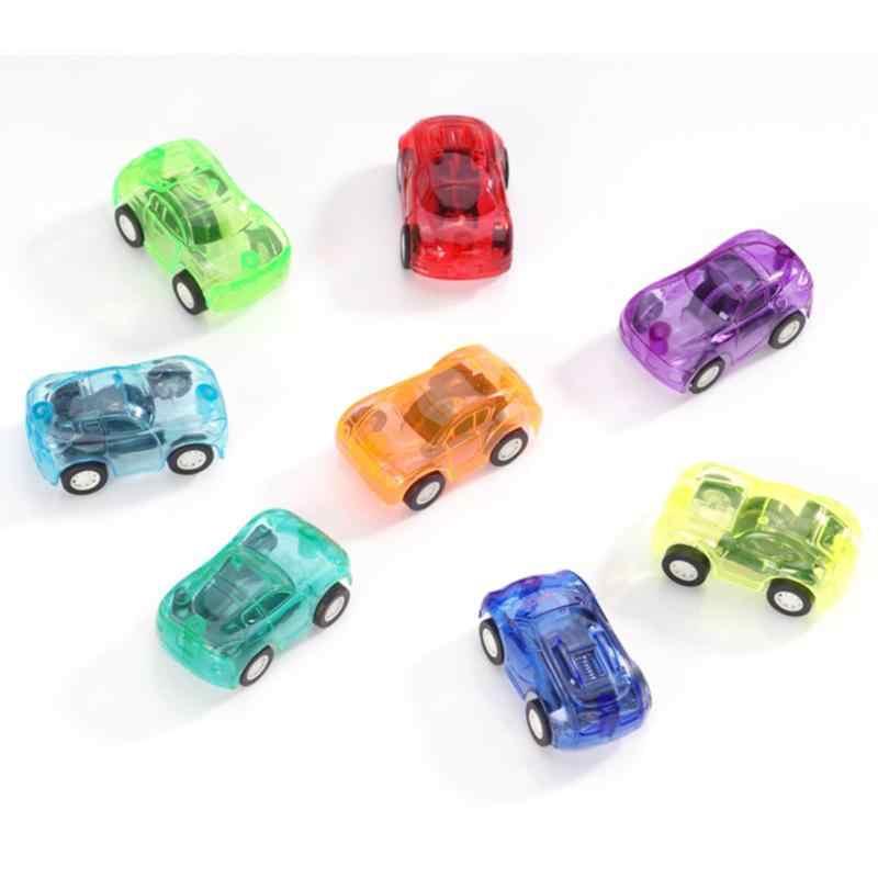 5 Buah/Set Berwarna Anak-anak Menarik Kembali Mini 5 Cm-Mobil Mainan Plastik Lucu Kendaraan Mobil Anak Roda Model Mainan untuk Anak Laki-laki Hadiah Ulang Tahun