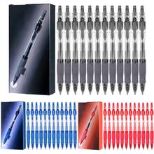 High Quality 12 Pieces / Lot Non-slip Retractable Gel Pen 0.5mm Writing Office Supplies And School Supply