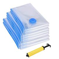 multi size Travel Space Saver Bags With Free Hand Pump Vacuum Seal Storage bags Pack Of 10