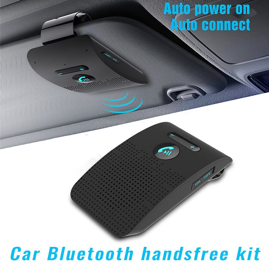 MAXIN Bluetooth 4.0 Visor Handsfree In-Car Speakerphone Car kit for iPhone Samsung HTC and all other Cellphones