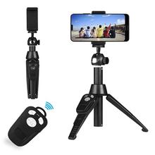 Tripod Selfie Stick, Mini Bluetooth Selfie Stick with Remote, 360 degree Rotation Extendable Monopod Selfie Stick for IPhone X 4 colors selfie stick mini tripod monopod selfie stick bluetooth remote control shutter handheld extendable monopod selfie stick