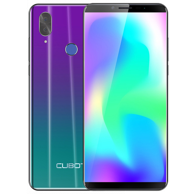 "CUBOT X19 Android 8.1 4GB 64GB Smartphone Octa Core Helio P23 5.93"" 16.0MP+2.0MP Camera Fingerprint 4000mAh Face ID Cellphone"