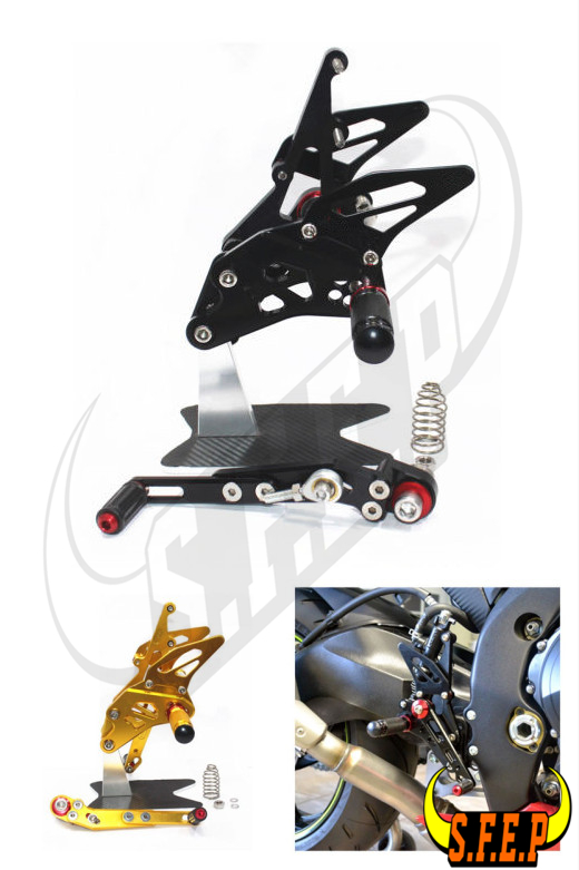 Adjustable CNC Rearsets Footpegs Pedals Footrests For BMW S1000RR 2015-2016 Ti