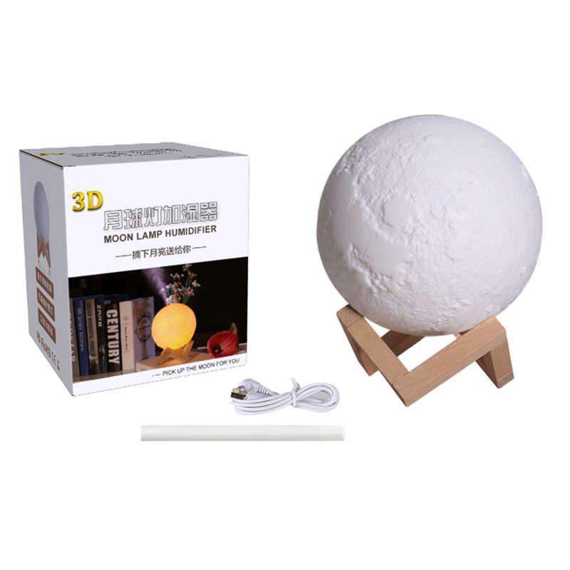 880 мл Увлажнитель Воздуха 3D Луна Лампа Диффузор Арома эфирное масло USB Ультразвуковой увлажнитель ночной Прохладный очиститель воздуха
