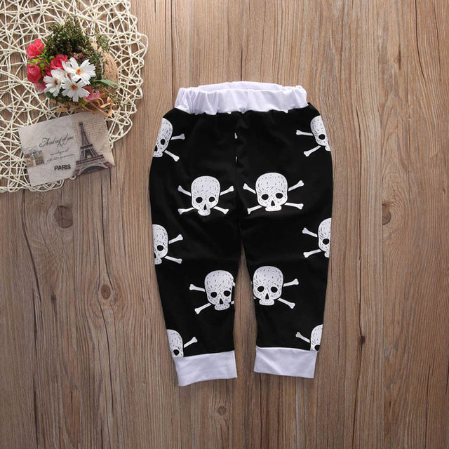SET 2PCS BABY SKULL OUTFITS