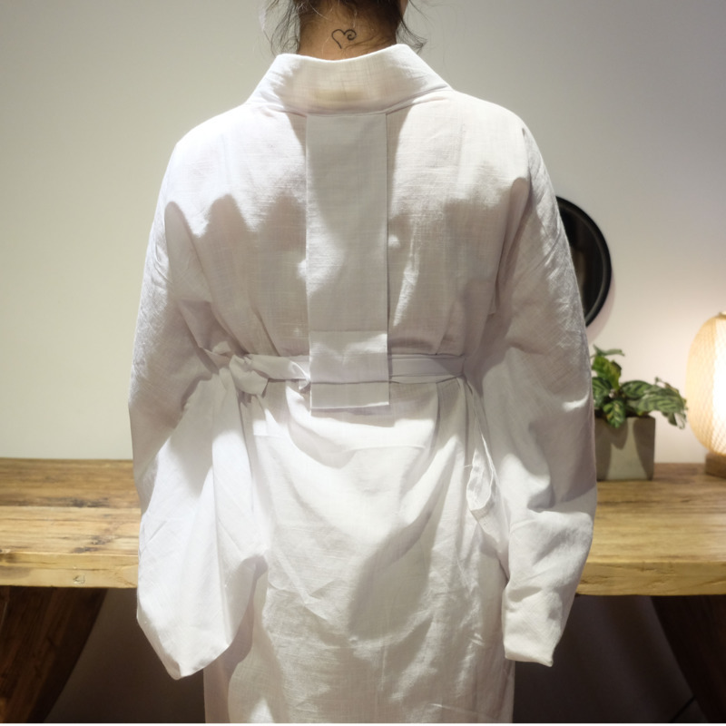 Style japonais Kimono blanc Haori femmes Cardigan traditionnel japonais vêtements japonais Kimono Yukata intérieur jupe pour Kimono H9006