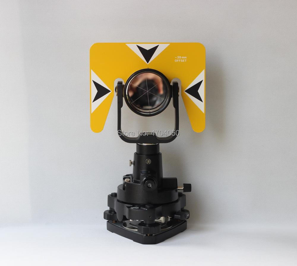New all metal Yellow Single Prism Tribrach adapter Set Reflector System for Topcon Nikon Pentax Total