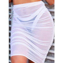Summer Women Mesh Sheer Skirt EL7F0
