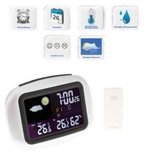 1 шт Погодная станция внутренние/наружные беспроводные датчики Цифровой термометр гигрометр lcd Температура и влажность-20-50C/20%-95